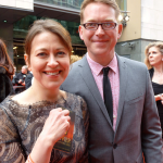 Nicola w Barnaby on the Oliviers red carpet
