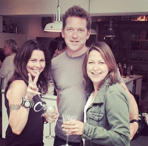 20140929 Nicola and Barnaby w Julie Graham