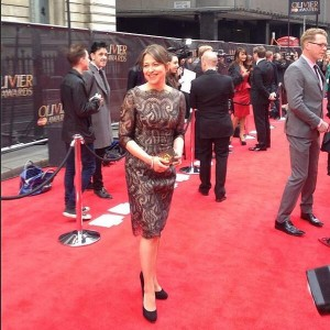 Nicola on the red carpet