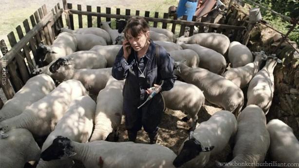 Gillian-w-Sheep